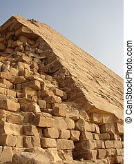 Big pyramids of Egypt The brought-down pyramid corners - The...