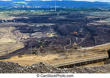 Coal mine, Sokolov,Czech Republic, industrial place