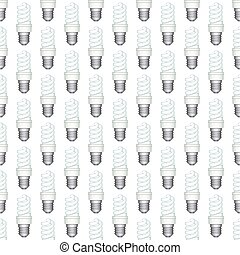 Energy saving lamp patterneps - Seamless pattern of the...
