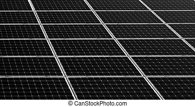 Solar panels background, solar energie