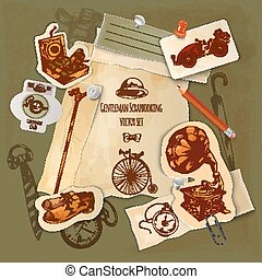 Gentlemen Scrapbooking Set