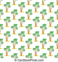 Palms pattern - Seamless pattern of the palms on small...