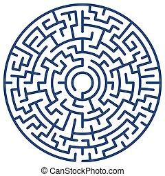 Round maze - Illustration of the round maze