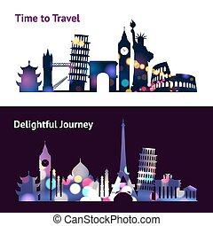Travel Sights Banners