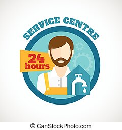 Plumber Service Flat Concept - Plumber around the clock...