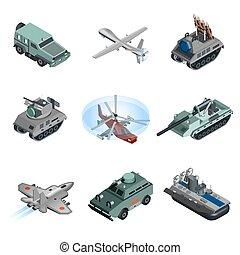 Military Equipment Isometric - Military equipment isometric...