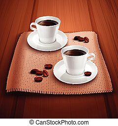Coffee Realistic Background