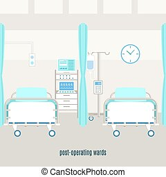 Medical post operating recovery ward poster - Medical...