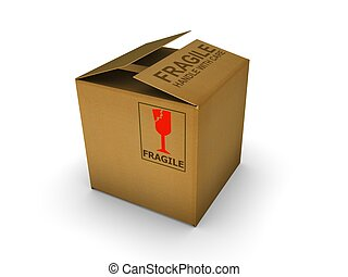 Cardboard - Isolated cardboard. High resolution image with...