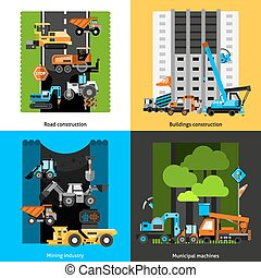 Construction Industry Icons Set - Construction industry and...