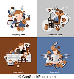 Coffee And Relax Icons Set