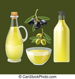 Fresh olive oil decorative poster