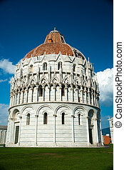 Baptistery, Pisa, Italy - Baptistery on famous Piazza dei...