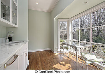 Pantry with eating area - Pantry in luxury home with sitting...