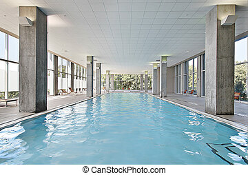 Indoor swimming pool - Indoor swiming pool in condominium...