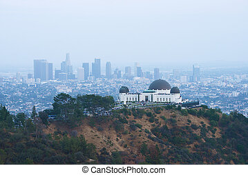 Griffith observatory - griffith observatory with Los angeles...