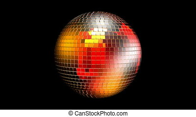 disco ball with reflected lights