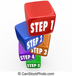 Step 1 2 3 4 5 Directions Instructions Cubes Blocks Tower -...
