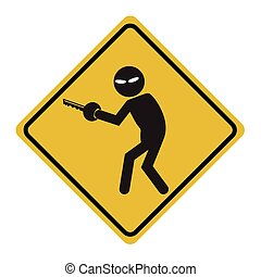 Hacker, Internet security concept Thief symbol illustration