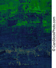 Green to gray - Acrylic in green, blue and gray