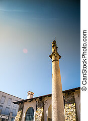 Koper city center, Slovenia - Monument in Koper city center,...