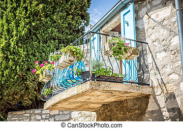 Mediterranean balcony ready for your wonderful vacation