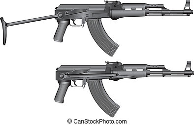 russian machine gun AKS-47