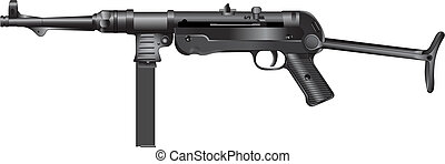 Old german machine gun Mp 40