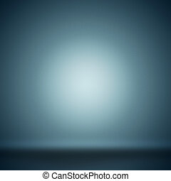 Abstract blank background toned blue with grain and circle...