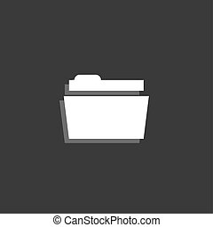 Icon Isolated on a Grey Background - Folder - An Icon...