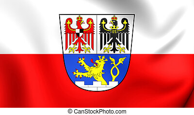 Flag of Erlangen City (Middle Franconia), Germany. - 3D Flag...