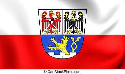 Flag of Erlangen City (Middle Franconia), Germany. - 3D Flag...