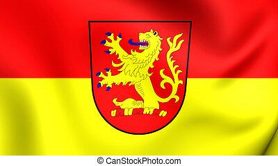 Flag of Langenhagen City Lower Saxony, Germany - 3D Flag of...