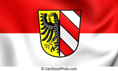 Flag of Nuremberg City, Germany. - 3D Flag of Nuremberg...