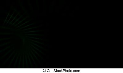 green motion light in dark background