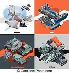 Military Equipment Isometric - Military equipment design...