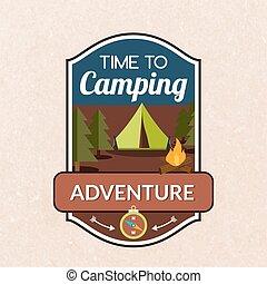 Summer Camping Emblem