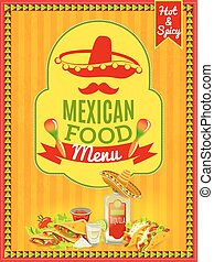 Mexican Food Menu Poster - Mexican national cuisine and...