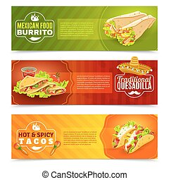 Mexican Food Banner Set - Mexican tradition futures and...