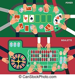 Casino Game Banner Set - Casino game horizontal banners set...