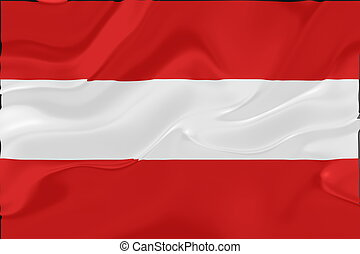 Flag of Austria wavy - Flag of Austria, national country...