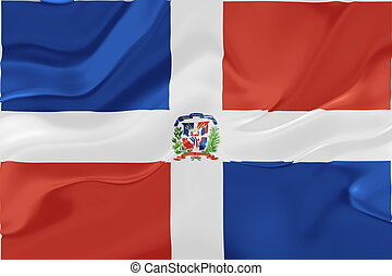 Flag of Dominican Republic wavy - Flag of Dominican...