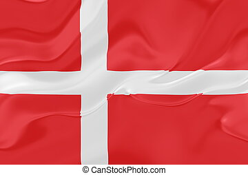 Flag of Denmark wavy - Flag of Denmark, national country...