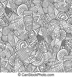Geometric abstract decorative pattern - Geometric line forms...