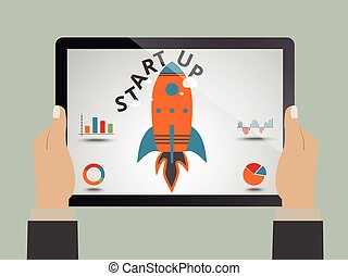 Startup concept - Startup, launching new business as concept