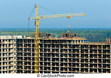 construction of high-rise building - Construction of tall...