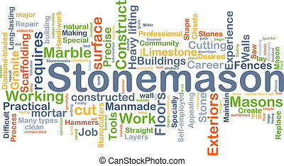 Stonemason background concept - Background concept wordcloud...