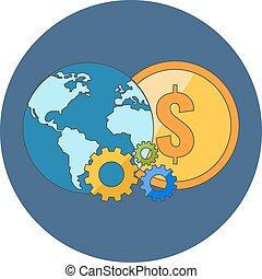 International business concept. Flat design.