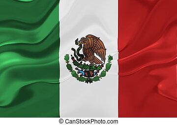 Flag of Mexico wavy