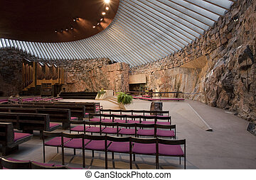 Rock Church - Interior of the Temple Square Church in the...